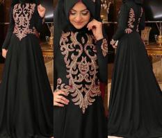 Jual Tokoku Dress Muslim Maxi Safirah Hitam Tokoku
