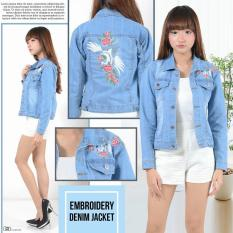 Harga Tokolobo Jaket Jeans Fashion Bordir Flaminggo Online