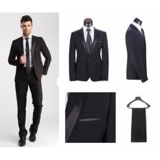 Harga Tom Browne Setelan Jas Pria Formal Elegant Design Jas Celana Jas Pesta Black Terbaik