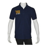 Harga Top Kaos Polo Shirt Turn Back Crime Police Navy Seken