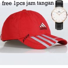 TOP PRODAK  Topi Baseball Cap Adidas Cowok Cewek Unisex Bordir-(Free 1Pcs Jam Tangan )