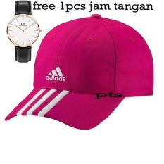 TOP PRODAK  Topi Baseball Cap Adidas Cowok Cewek Unisex Bordir-(FRee 1PCS Jam Tangan DW)