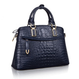 Toko Top Quality Women S Tangan Kulit Sapi Casing Mewah Genuine Leather Crocodile Pattern Shoulder Bag Cross Body Bag Dark Blue Lengkap