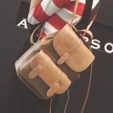 Tingkat Teratas LEFTSIDE Baru Baru Ransel Wanita Sekolah Korea Back Pack PU Kulit Fashion Natal Hadiah untuk Anak Perempuan Pack Bags Lady Tas Online-Intl