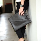 Pusat Jual Beli Top Rate New Korean Men S Handbag Women Bag Old Sch**l Messenger Bag Clutch Hand Bag Men S Handbag Crocodile Grain File Handbag Black Intl Tiongkok