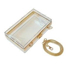 Harga Top Rate Oem Women Lady Transparent Clutch Purse Bag Chain Purse Satchel Tote Intl Termahal