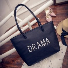 Beli Top Rate Pre Order Women Drama Korean Tote Shoulder Bags Black Intl Cicilan