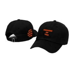 Topi Baseball Anti Social Social Club / Topi Baeball Keren Assc Enough of You orange Black Premium