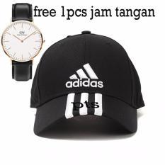 Topi Baseball Cap Adidas Cowok Cewek Unisex Bordir-(Free 1pcs jam tangan )