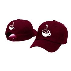 Beli Topi Baseball Coffe Lover White Maroon Premium Brother Store Dengan Harga Terjangkau