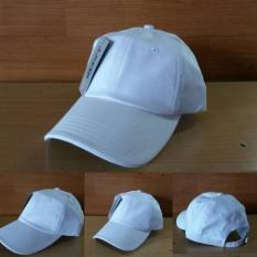 Topi Baseball Polos Putih Import