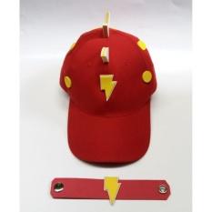 Topi Boboiboy Halilintar Merah  Size M + Gelang