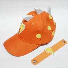 Topi Boboiboy Halilintar Orange Size S + Gelang