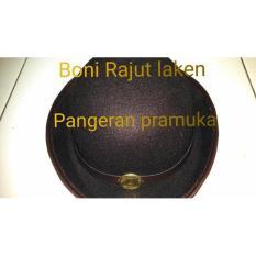 Topi Boni Pramuka Laken Pake Tali