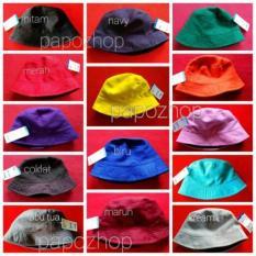 Topi Bucket Hat Polos Bolak Balik 2 Warna Warni Tebal Premium - 7Ece93 b5be3a542e