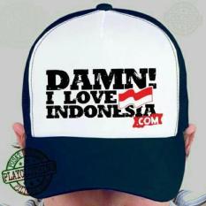 Topi Damn I Love Indonesia-Navy