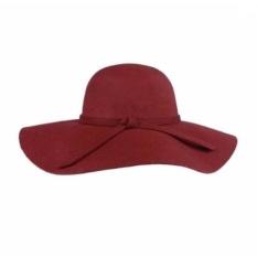 Jual Topi Floppy Hat Pantai Maroon Universal Asli