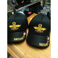 Topi Jaring Security Hitam Wing Kuning - 565A59