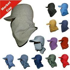 Topi Jepang masker samping Topi mancing anti panas Topi naik gunung