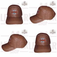 Topi kulit asli garut - Coklat