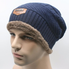 Spesifikasi Topi Kupluk Beanie Wool Winter Premium Quality Blue Online