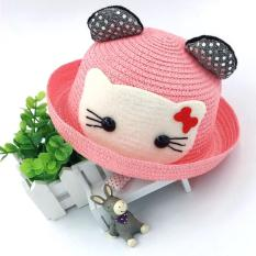 Topi Laken Wanita Hello Kitty - Pink