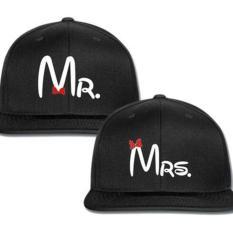 Topi Mr And Mrs Couple New  Edition/Pcs Murah