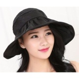 Promo Topi Pantai Wanita Anti Uv Black