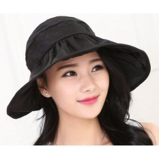 Jual Topi Pantai Wanita Anti Uv Black Branded