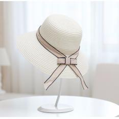 Jual Topi Pantai Wanita Anti Uv Elegant Summer Style Beige Universal