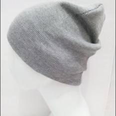 Topi Pria/Wanita - Model Kupluk Polos - Spandek ABU-ABU