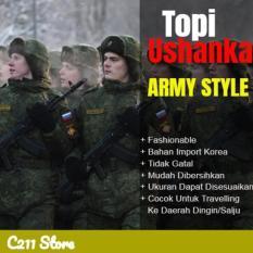 Topi Russia Ushanka Hat - Army Style - Gfa7rx