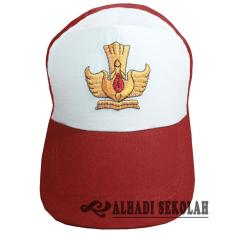 Topi SD Sekolah Dasar, Topi Seragam SD, Topi Pakaian Sekolah, Topi SD, Topi Bordir (TSS001-01)