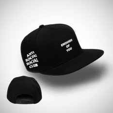 Topi Snapback Anti Social Social Club - Topi Snapbackl Keren Assc Enough of You Black1 Premium
