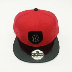 Topi Snapback Ny Merah Hitam Kulit Plat Import Murah - 95Ca6d