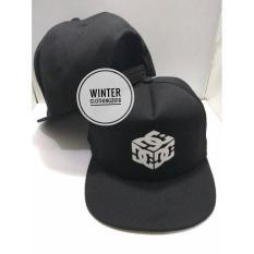 topi snapback(tanpa jaring) dc,hitam