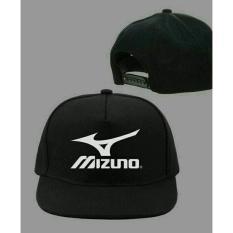 topi snapback(tanpa jaring) mizuno,hitam