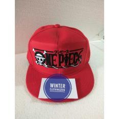 topi snapback(tanpa jaring) onepiece,merah