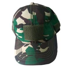 Topi Tactical Velcro Loreng Green ARMY