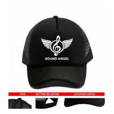 Jual Topi Trucker Borgore Sound Angel Black Premium Lengkap
