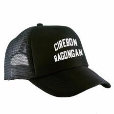 #TopiPria RLUCK8888 TOPI JARING TRUCKER CIREBON BAGONGAN - HITAM