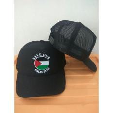 #TopiPria RLUCK8888 TOPI JARING TRUCKER SAVE OUR PALESTINE TJ01 - HITAM