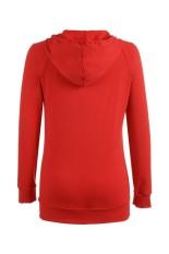 Toprank Meaneor Fashion Stylish Wanita Leher V Lengan Pendek Sweatshirt Pullover Hoodie (Merah)-Intl