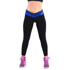 Spesifikasi Toprank New Fashion Ladies Women Stretch Solid Long Sport Leggings Dark Blue Intl Yang Bagus
