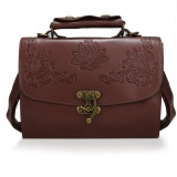 Review Toko Toprank New Fashion Women Synthetic Leather Vintage Style Shoulderbag Casual Retro Handbag Brown Intl Online