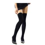 Diskon Toprank Di Atas Paha Lutut Kaus Kaki Tinggi Kurus Stoking Wanita Seksi Kapas Hitam Oem