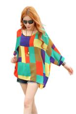 Toprank Pakaian Kasual Musim Semi Musim Gugur Perempuan Wearing T Shirt Ful Kain Sutera Tipis T Shirt Nya Panjang And Blus Gaun Longgar Berwarna Mata Kuning Baju Wanita Atasan Tee Sv14 Aneka Warna Original