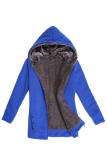 Katalog Peringkat Teratas Mantel Musim Dingin Fashion Wanita Hoodie Panjang Bulu Wol Yang Hangat And Santai Sweatshirts Jaket Bulu Biru Oem Terbaru
