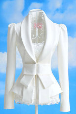 Jual Toprank Women Big Bowknot Jackets Ladies Career Ol Slim Suit Coats Casual Female S M L And Xl White Online