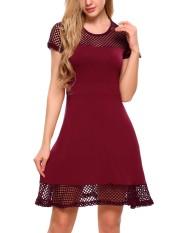toprank-women-short-sleeve-patchwork-hollow-fit-and-flare-mini-dress-casual-party-red-intl-7267-35464277-28fabf6e7b2d2290d2c4122abd1ea56b-catalog_233 Koleksi List Harga Gaun Muslim Pesta Sederhana Terbaru 2018
